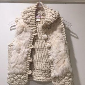Romeo & Juliet Couture Rabbit fur vest